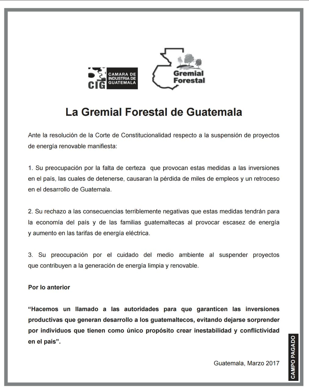 Gremial Forestal
