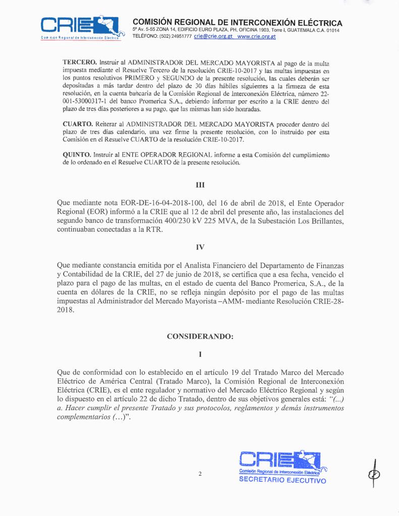 Prov. CRIE-PS-09-2018-01 CRIE a AMM formación de sancionatorio CRIE-PS-09-2018-3