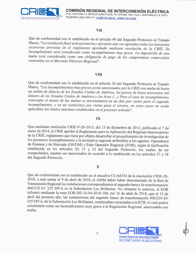 Prov. CRIE-PS-09-2018-01 CRIE a AMM formación de sancionatorio CRIE-PS-09-2018-5