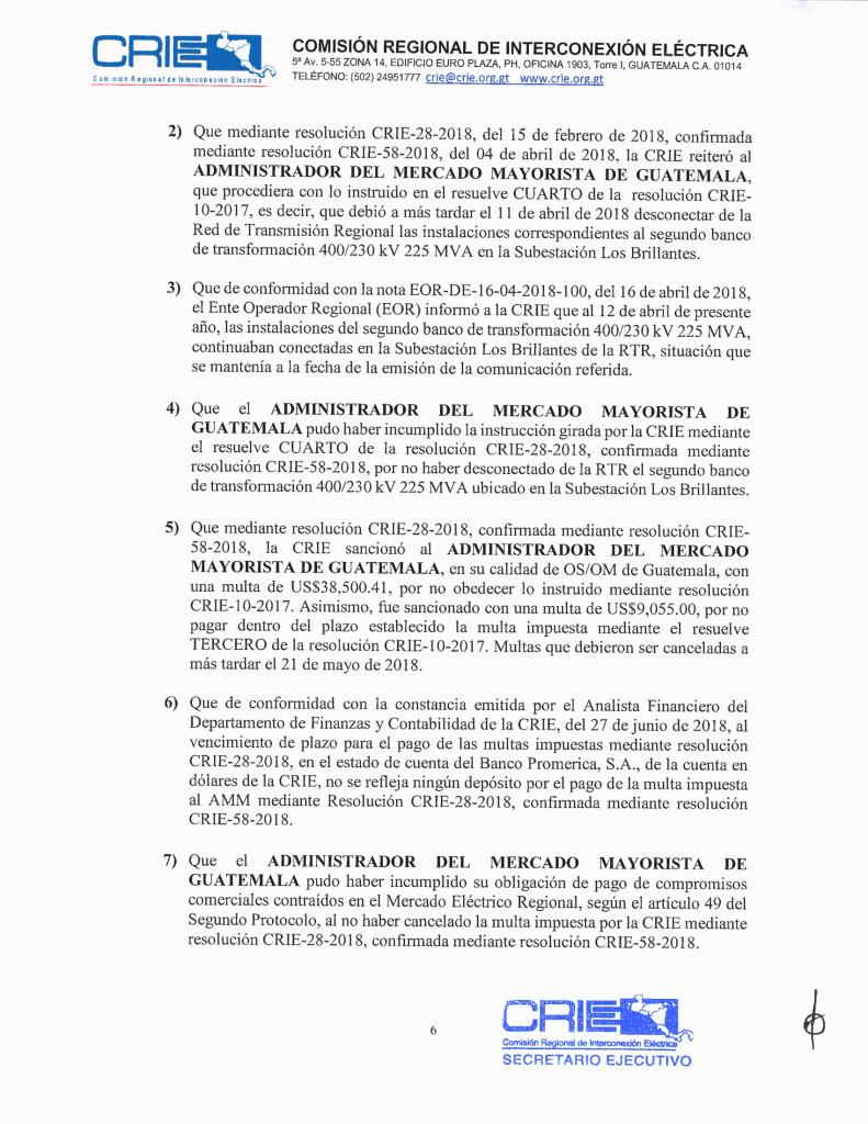 Prov. CRIE-PS-09-2018-01 CRIE a AMM formación de sancionatorio CRIE-PS-09-2018-7