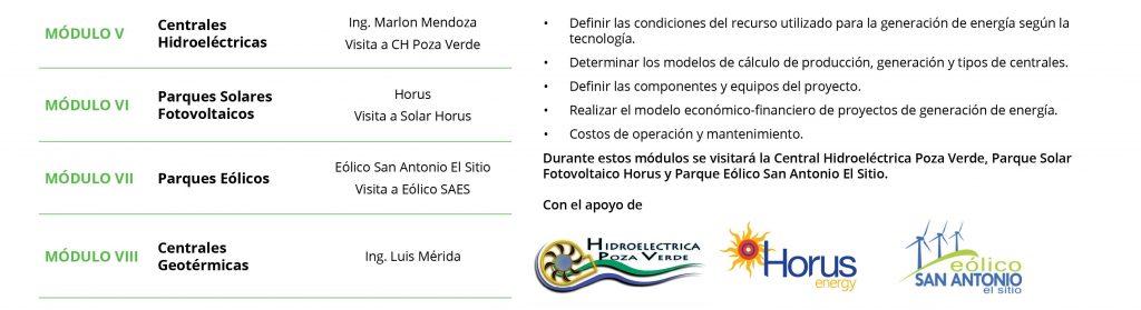 Diplomado en Desarrollo y Gestión de Proyectos de Generación de Energía Renovable
